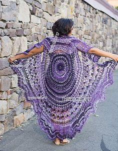 Bohemian Vest Crochet PATTERN Circle Vest Pattern/ by TheEdgeof17