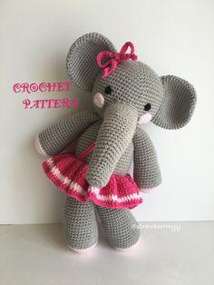 Crochet Amigurumi Elephant Pattern  English only