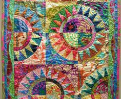 Venus de Hilo quilter.  amazing use of color and pattern.   love love love Post image for Attack of the Drunken Monkeys