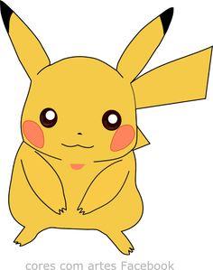 Cores com Artes: #Pokemon Picachu Mais artes na página #Pokémon picachu tamanho 781x989 https://www.facebook.com/corescomartes