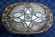 Oval jewelry box - handmade pyrography by Jimi