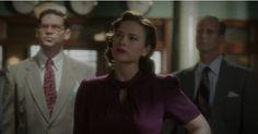 Agent Carter, The Blitzkrief Button: plum dress 2 Peggy Carter, Agent Carter, Plum Dresses, Red And Blue Dress, That Look, Button, Vintage, Vintage Comics, Primitive