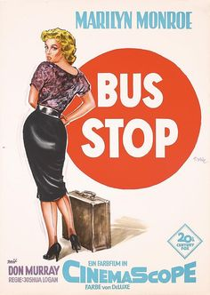 "Vintage Marilyn ""Bus Stop"" movie poster"