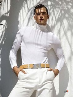 The Great O'Pry Sean Models White Summer Fashions for May 2015 GQ España is part of Mens fashion editorial A play on words, the May 2015 issue of GQ España borrows from the story The Great - Sean O'pry, Fashion Shoot, Look Fashion, Editorial Fashion, Mens Fashion, Men Editorial, Fashion 2015, Photography Poses For Men, Fashion Photography