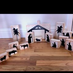 You Pinspire Me: 16 DIY Nativity Scenes You might be able to do this with extra wood and a cricut (and the new testament cartridge) Christmas Wood, Christmas Nativity, Christmas Games, Christmas Projects, Winter Christmas, Holiday Crafts, Merry Christmas, Xmas, Christmas Decorations