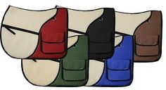 Saddle Pads 183377: Showman English Saddle Pad With Saddle Pockets! Colors! -> BUY IT NOW ONLY: $39.95 on eBay!