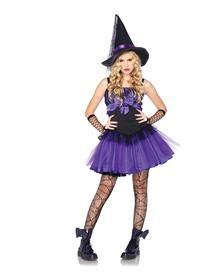 Wicked Purple Witch Tween Costume