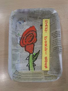 Quadre de Sant Jordi Saint George, Art Plastique, Spring Crafts, Lunch Box, Tapas, Roses, School, Spring, Crocheting
