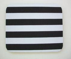 Computer Mouse PAD - Mat - MousePad - Rectangle - black white stripes    eBay