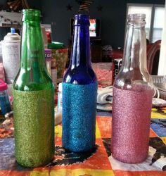 Beer Bottle Decoration Diy Beer Bottle Decor  Threadsence  Food  Pinterest  Diy