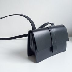 The Kim leather black box bag by Danielle Foster…: