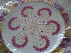 1000 images about aarthi plates on pinterest diwali for Aarthi plates decoration