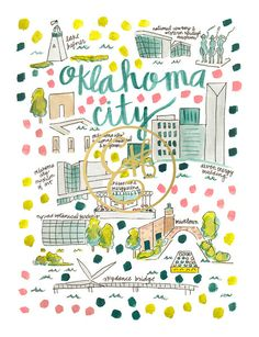 Oklahoma City Map Print