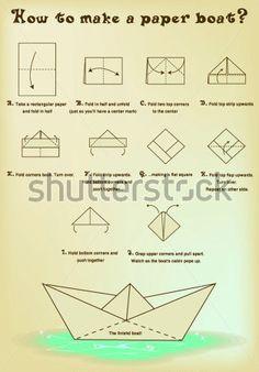 Как Сделать Бумажный Кораблик клипарты - ClipartLogo.com