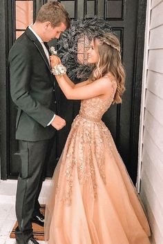 A-Line V-Neck Floor-Length Champagne Prom Dress with Appliques Beading, .A-Line V-Neck Floor-Length Champagne Prom Dress with Appliques Beading, Pretty Prom Dresses, Hoco Dresses, Tulle Prom Dress, Lace Evening Dresses, Cheap Prom Dresses, Prom Party Dresses, Elegant Dresses, Sexy Dresses, Summer Dresses