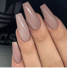 59 Beautiful Nail Art Design To Try This Season - long coffin nails , glitter na. - 59 Beautiful Nail Art Design To Try This Season – long coffin nails , glitter nails, mixmatched n - Best Acrylic Nails, Acrylic Nail Designs, Nail Art Designs, Nails Design, Brown Acrylic Nails, Latest Nail Designs, Popular Nail Designs, Elegant Nail Designs, Brown Nails