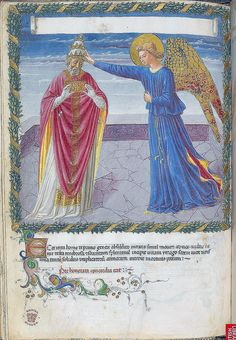 London BL - Harley 1340 f. 14v Angel crowning a pope B | Flickr – Condivisione di foto!