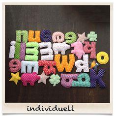Baukasten für Stoffbuchstaben