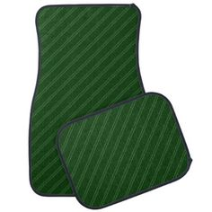 #stripes - #Green with Double Pin Stripes Car Mat Full Set