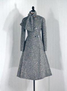 Coat    Pauline Trigère. 1960s    Timeless Vixen Vintage