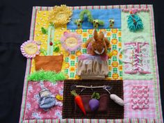 Garden Girl- Fidget Quilt- Tactile - Bright & Colorful- Fun for Alzhiemer Patients