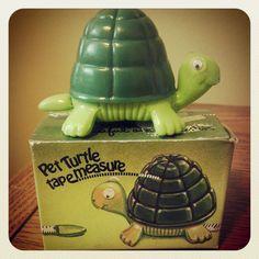 Pet turtle tape measure, sew cute, sewing supplies, vintage 1981 on Etsy, $17.50