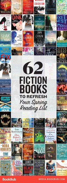 62 great fiction books worth reading this spring. These are great novels for your 2017 reading list!