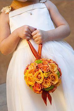 Flower girl alternatives to throwing petals? - Weddingbee