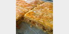 Lihalevypiirakka tästä ei klassikkoresepti parane. Spanakopita, Lasagna, Sweets, Baking, Ethnic Recipes, Kitchen, Desserts, Food, Tailgate Desserts