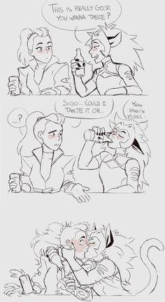 Cute Lesbian Couples, Lesbian Art, Anime Vs Cartoon, Baby Avengers, Owl House, She Ra Princess Of Power, Funny Drawings, Fun Comics, Anime Shows