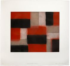 Sean Scully (Irish, born 1946) Wall of light: Crimson Aquatint printed in colours, 2005, on wove, signed, titled, dated and numbered 4/40 in pencil, printed by Burnet Editions with their blindstamp, with full margins, 451 x 559mm (17 3/4 x 22in) (PL)