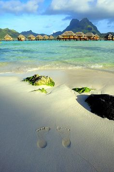 Cool sand on the feet - Bora Bora, French Polynesia