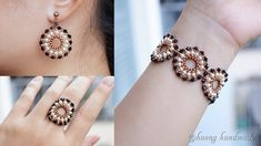 Earring Tutorial, Bracelet Tutorial, Diy Jewelry, Beaded Jewelry, Jewelry Making, Handmade Beads, Handmade Jewelry, Seed Bead Bracelets, How To Make Beads