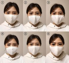 Diy And Crafts Sewing, Easy Sewing Projects, Nose Mask, Face Masks, Mask Girl, Diy Mask, Mask For Kids, Handicraft, Dress Making