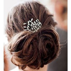 wedding updo with sparkle accessory