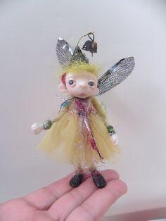 ooak poseable SUGAR PLUM pixie FAIRY 1  art doll by dinkydarlings, $59.00