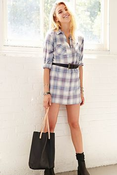 BDG Flannel Shirtdress