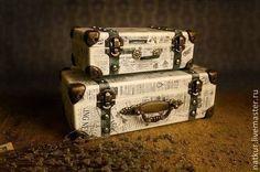 "Шкатулка и купюрница "" The Times"" декупаж - чёрно-белый,шкатулка,купюрница Eco Furniture, Refurbished Furniture, Vintage Suitcases, Vintage Luggage, Decoupage Suitcase, Sheet Music Crafts, Steampunk Crafts, Gold Diy, Craft Bags"