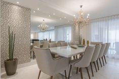 Sala de jantar com papel de parede 3D Projeto de Sandra Pompe