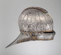 Attributed to Kolman Helmschmid | Tournament Sallet Made for Louis II (1506–1526), King of Hungary and Bohemia | German, Augsburg | The Met