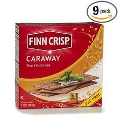 Finn Crisp Caraway Thin Crispbread , 7-Ounce Boxes (Pack of 9)
