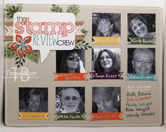 Tinkerin In Ink with Tanya: Stamp Review Crew: Flower Patch Edition, scrapbook page of team (part 1)