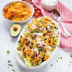 Easy Taco Salad Recipe (with Ground Beef) + Video - The Busy Baker