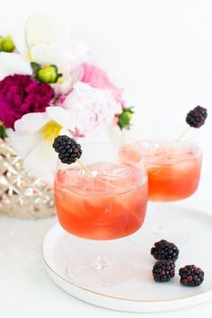 Blackberry champagne punch recipe!