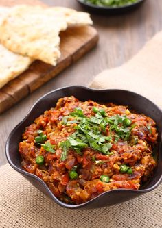 'Baingan Bharta' (Indian smoky eggplant dish)
