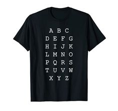 English alphabet, ABC T-Shirt Learn and study design English Abc, English Alphabet, Study Design, Shirt Price, Branded T Shirts, Fashion Brands, Graphic Tees, Shirt Designs, T Shirts For Women