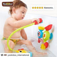 Uno de los mejores juguetes de baño de todos los tiempos. http://ift.tt/1NDoqWK #cucutoys #yookidoo #juguetes #niños #baño