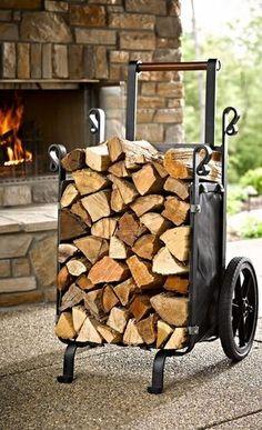 Steel circle log holder instagram pinterest log holder fall collections and logs - Kaminholz stapeln wohnzimmer ...