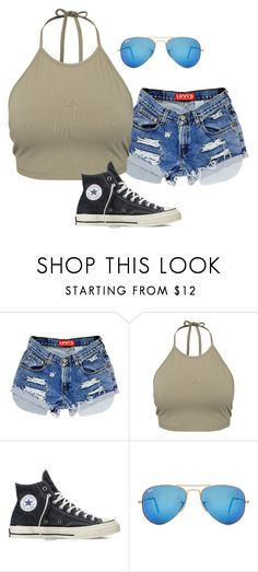 """Untitled #2253"" by elephant10 ❤ liked on Polyvore featuring NLY Trend, Converse and Ray-Ban"