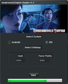 Underworld Empire Hack Tool (Android/iOS)   Underworld Empire Hack Tool(Android/iOS)  We want to present you an amazing tool calledUnderworld Empire Hack ToolWith ourUnderworld EmpireTraineryou canget unlimited Cash and Favor Points.Our soft works on allAndroidand iOS devices. It does not require any jailbreak or root. OurUnderworld EmpireCheatis very easy to use. Just Connect your device select the device check the optionsyou want to add click on the buttonStartand youre…